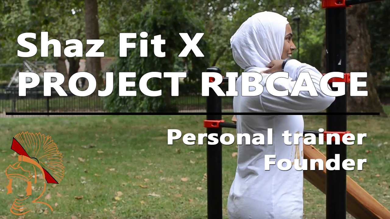 Shaz muslim woman personal trainer in a session with project ribcage